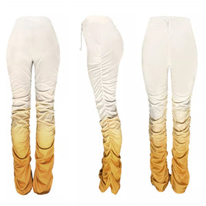Gold/Yellow Gradient Ruched Bottom Pants - S&E Retail Expo