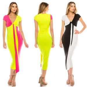 Color Block Midi Dress - S&E Retail Expo