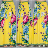 Yellow Floral Printed Tassel Maxi Skirt - S&E Retail Expo