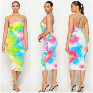 """Everything You Need"" Tie Dye Midi Dress"
