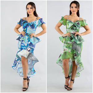 Swirly Palm Leaf Skirt Set - S&E Retail Expo