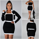 """As If"" Black & White Mini Dress & Jacket Set - S&E Retail Expo"