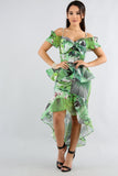 Swirly Palm Leaf Skirt Set