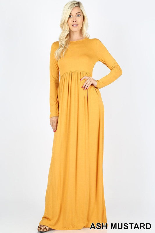 Yellow Casual & Comfy Maxi Dress