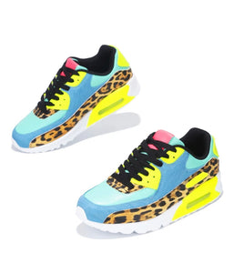 """Ombre"" Multicolored Leopard Print Skywalker Fashion Sneakers"