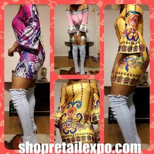 Purple Off Shoulder Dashiki Dress - S&E Retail Expo