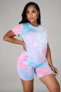 Tie Dye Biker Shorts Set - S&E Retail Expo