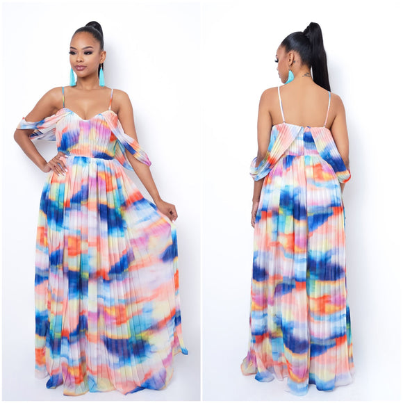 Multicolor Primavera Maxi Dress - S&E Retail Expo