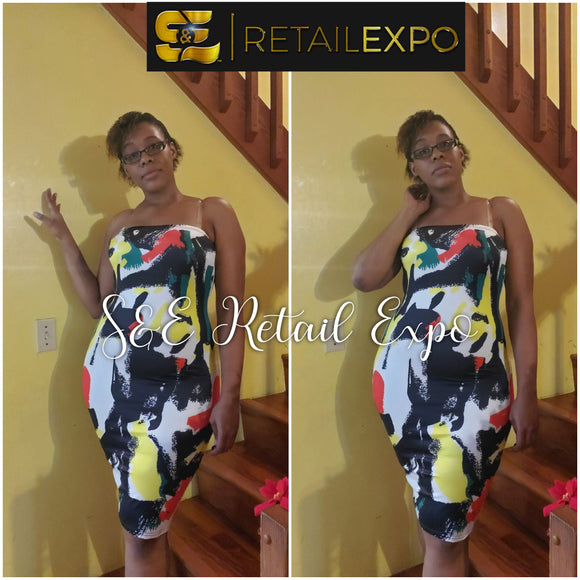 Rasta Bodycon Tube Dress