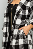 Black & White Checkerboard Coat - S&E Retail Expo