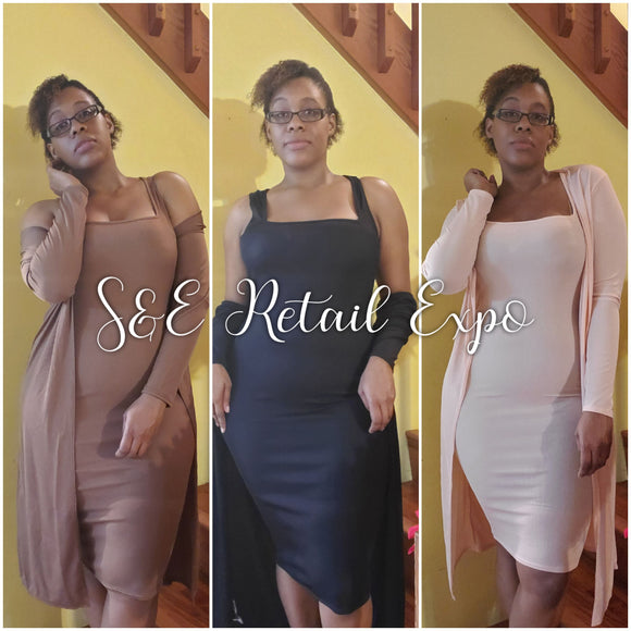 Midi Dress & Duster Set - S&E Retail Expo
