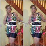 Rasta Herb Leaf Racerback Top & Shorts Set - S&E Retail Expo