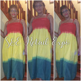 Rasta Spaghetti Strapped Summer Dress - S&E Retail Expo