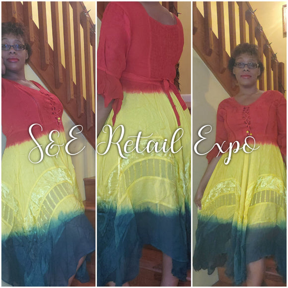 Rasta Handkerchief Dress - S&E Retail Expo