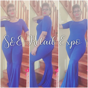 Royal Blue Flare Leg Jumpsuit - S&E Retail Expo