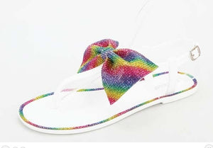 Rainbow Bowtie Sandals - S&E Retail Expo