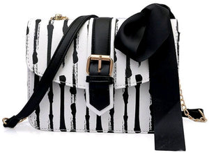 Bowknot Striped Chain Bag - S&E Retail Expo