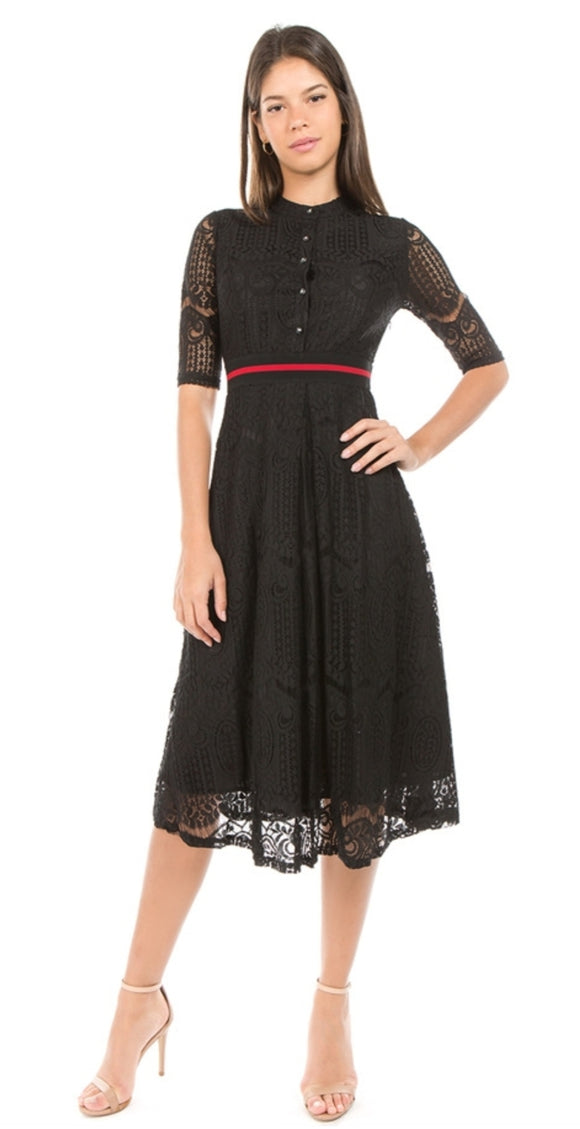 Lace Me Up Flare Dress