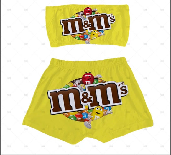 M&M's Candy Sleepwear Booty Shorts & Tube Top Set - S&E Retail Expo