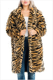 Tiger Print Faux Fur Coat - S&E Retail Expo