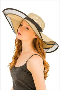 Wide Brim Elegant Floppy Hat (Beige) - S&E Retail Expo