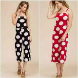 Polka Dot Spaghetti Strapped  Jumpsuit - S&E Retail Expo