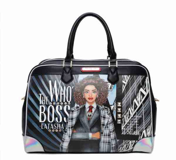 "Nicole Lee ""Who's the Boss Latasha"" Boston Bag"
