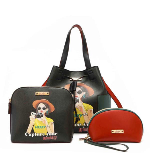 "Nicole Lee ""Capture Your Smile"" 3 Piece Bag Set"