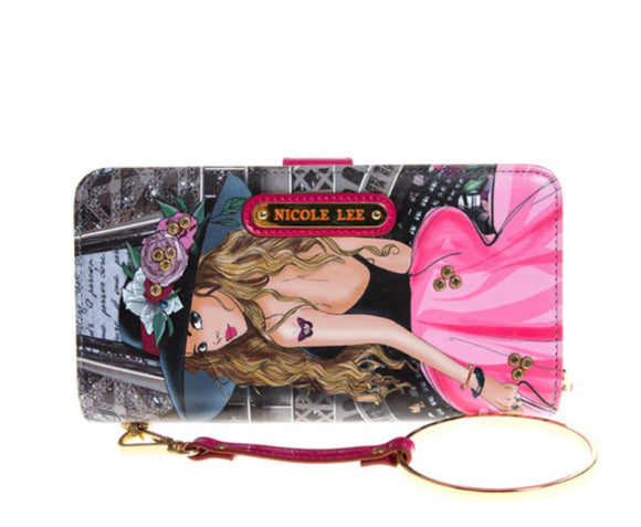 "Nicole Lee USA Exclusive ""Vivian Dreams Paris"" RFID Block Print Wallet"
