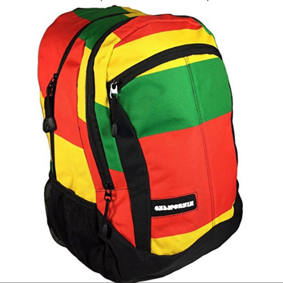 Rasta Backpack W/ Laptop Protection