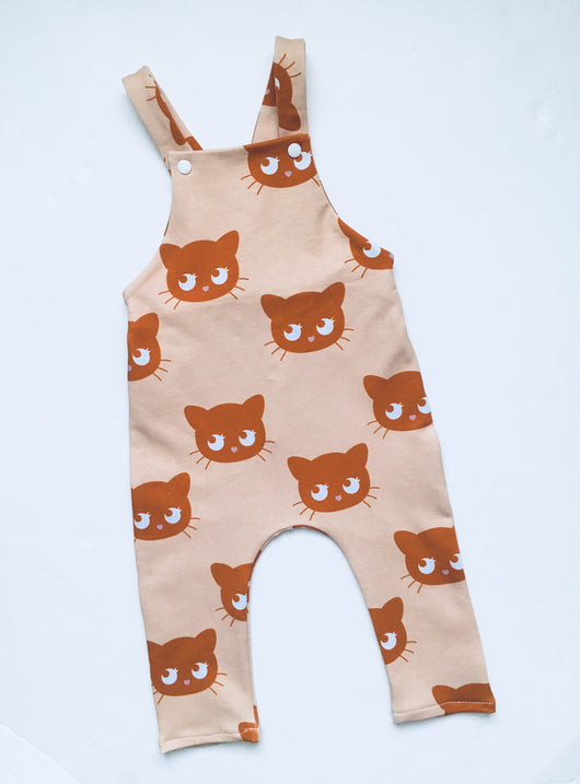 KITTY french terry dungarees, unisex