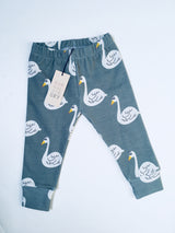 SWAN print French Terry pants, unisex