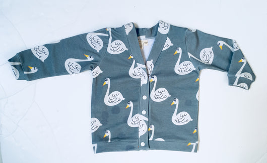 SWAN french terry cardigan