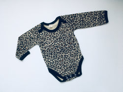 LEOPARD print long sleeved body suit