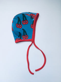 CHERRY reversible baby bonnet