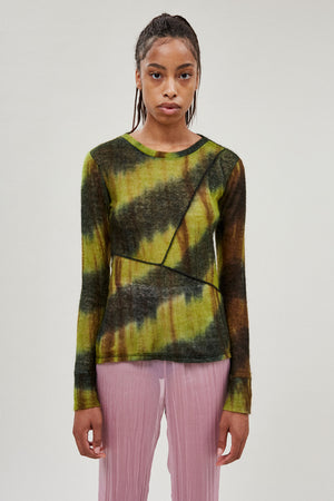 Paneled Sweater Top