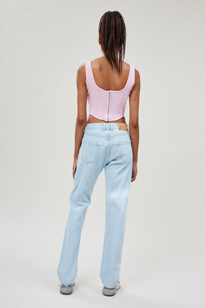 Light Wash Straight Leg Jeans