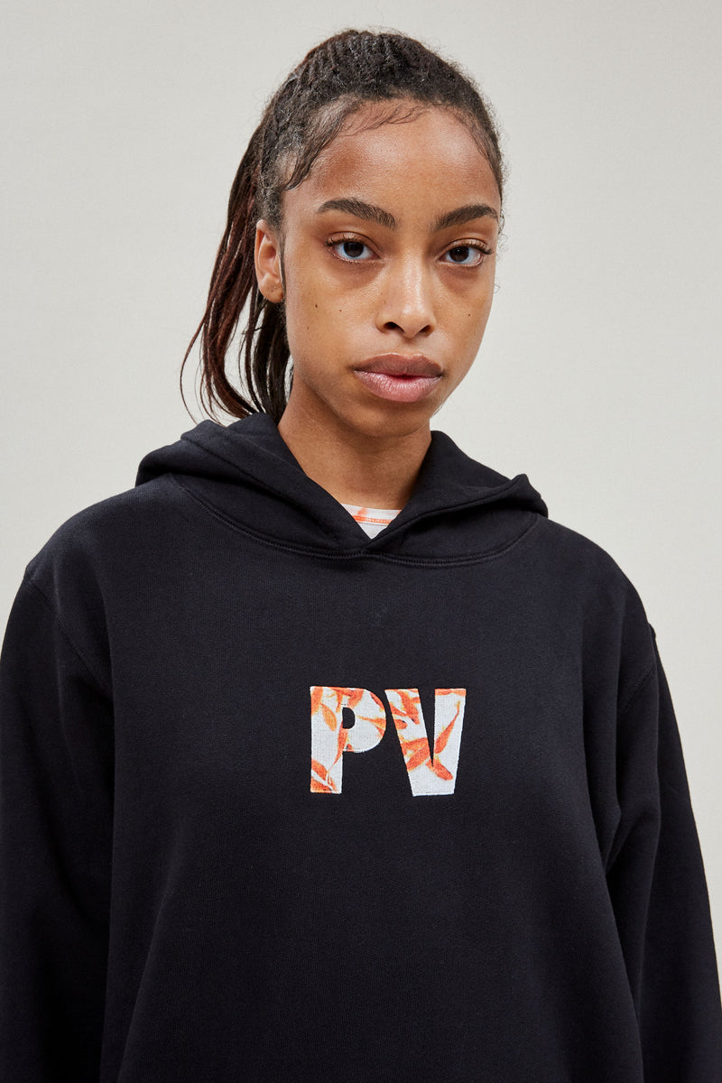Black Logo Embroidered PV Hoodie