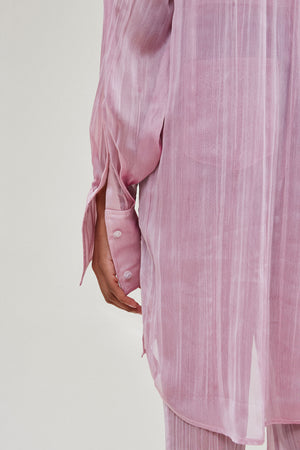Sheer Button Down Dress
