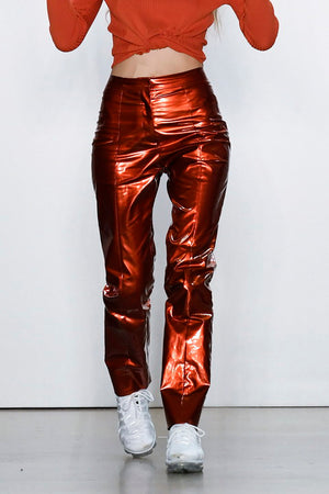Straight Leg High Gloss Pants