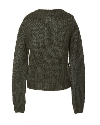 Mock Neck Mohair Sweater