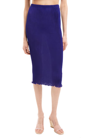 Purple Seamless Pleated skirt