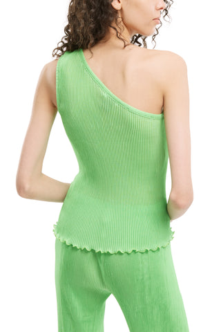 One Shoulder Pleated Top