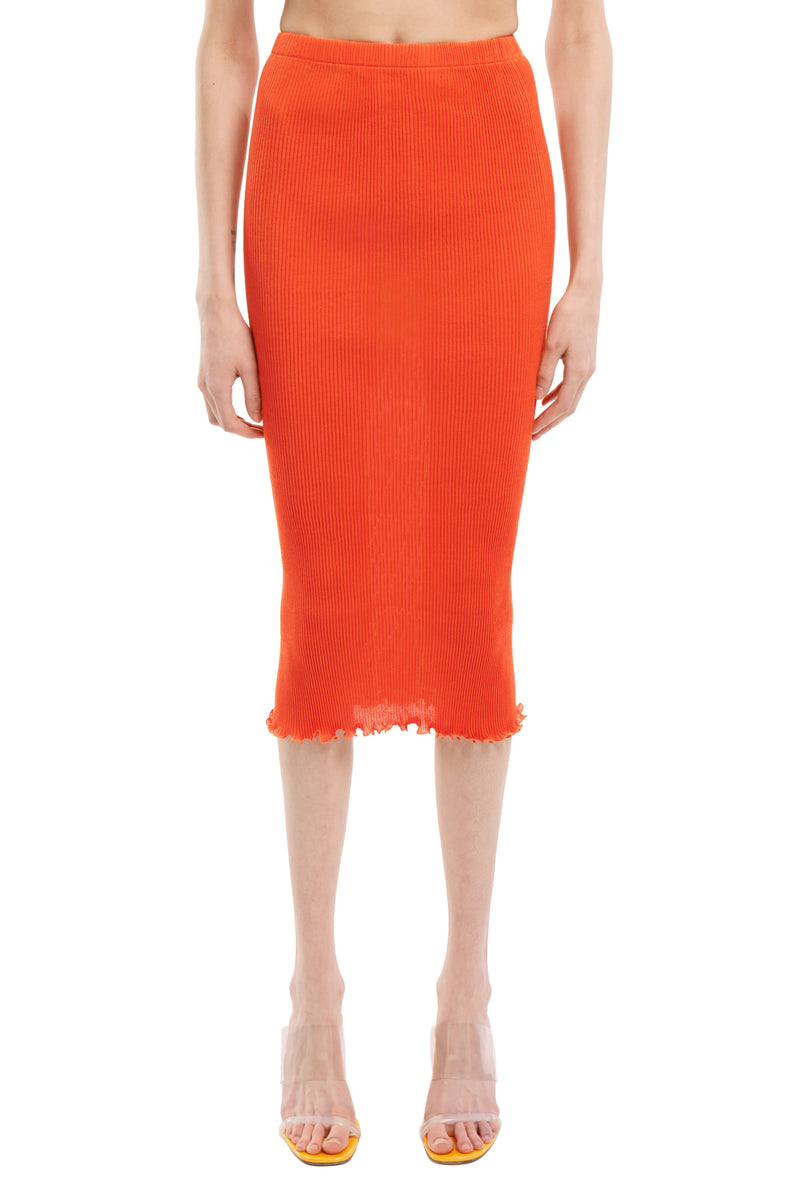 Blood Orange Seamless Pleated skirt