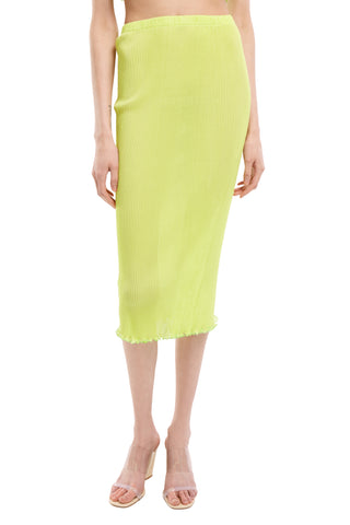 Lime Seamless Pleated skirt