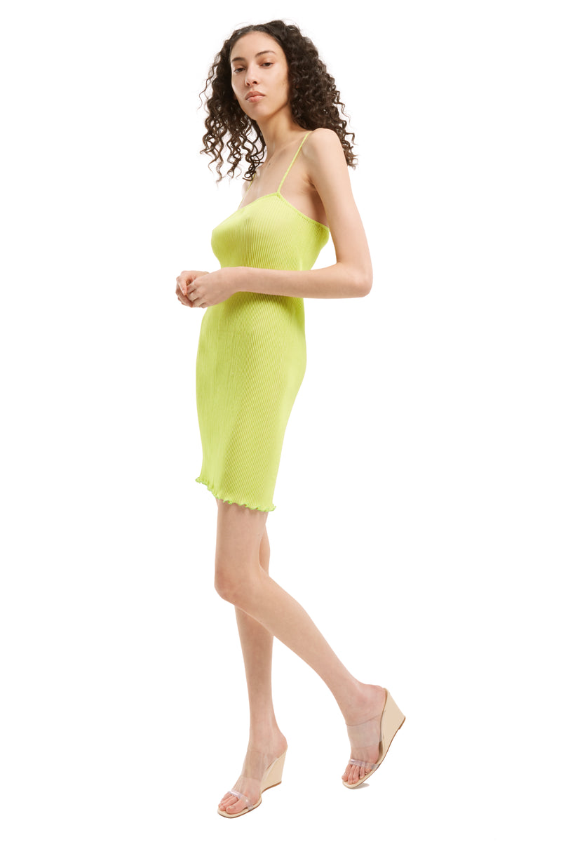 Lime Mini Cami Dress
