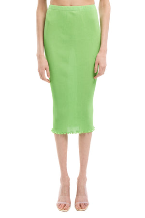 Apple Green Seamless Pleated skirt