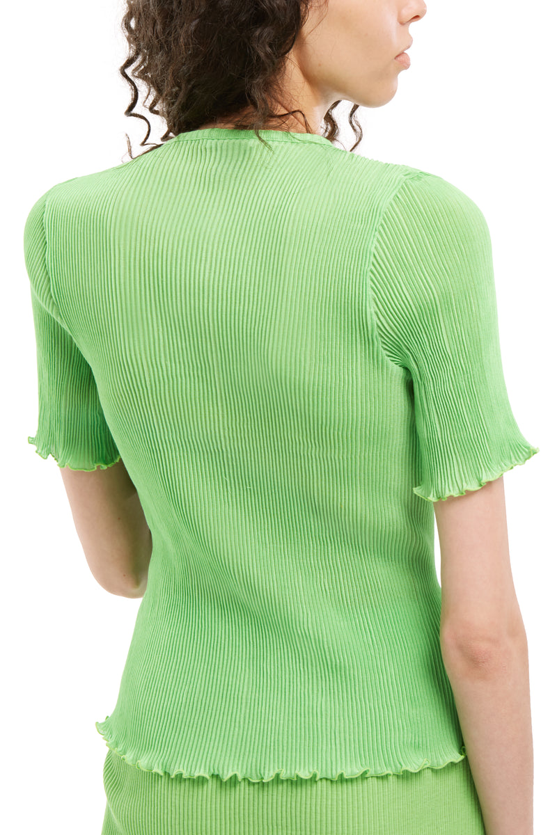 Short Sleeve Pleated Top