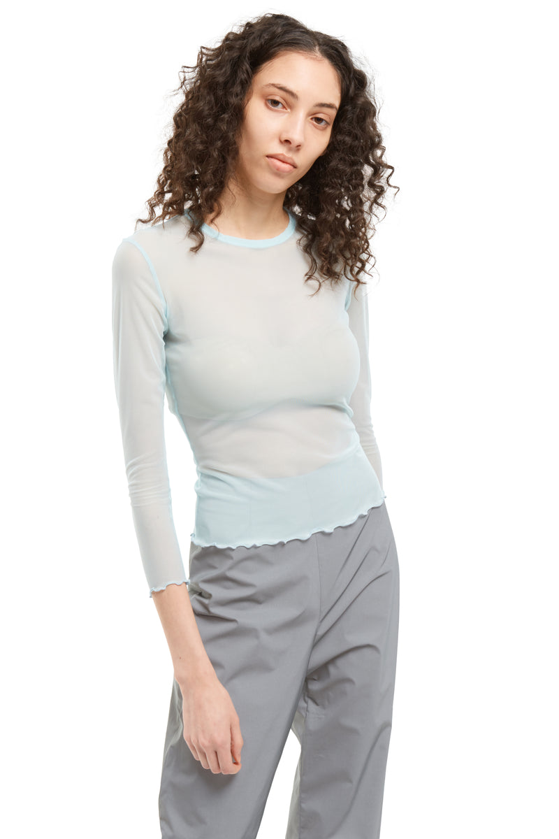 3/4 Sleeve Mesh Top