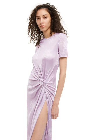 Short Sleeve Knot Dress